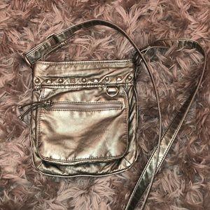 Silver studded crossbody purse